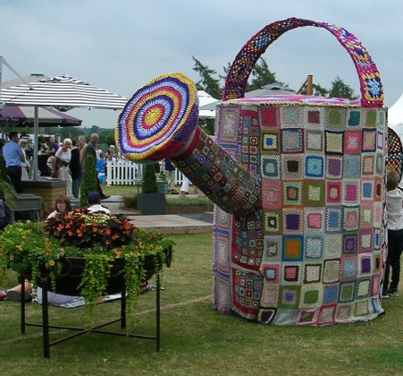 Yarn bomb watering can c