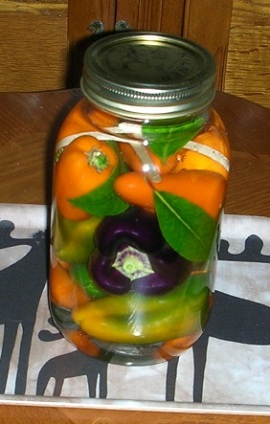 Peppers, fermented